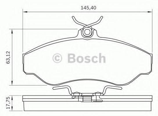Комплект тормозных колодок, дисковый тормоз BOSCH 0986BB0285