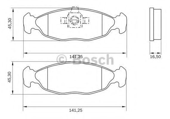 Комплект тормозных колодок, дисковый тормоз BOSCH 0986BB0787