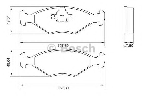 Комплект тормозных колодок, дисковый тормоз BOSCH 0986BB0788