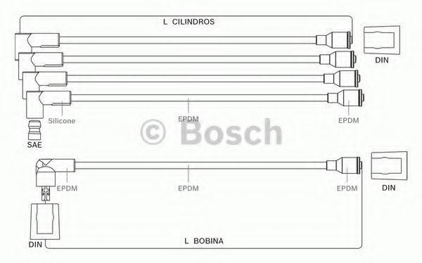 Комплект проводов зажигания BOSCH 9295080001