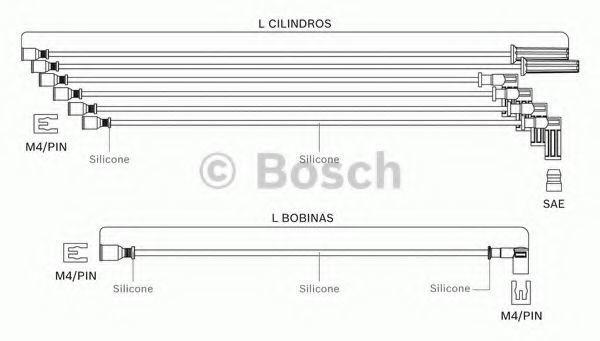 Комплект проводов зажигания BOSCH F00099C092