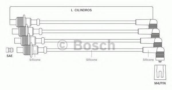 Комплект проводов зажигания BOSCH F00099C097