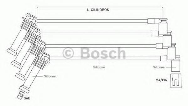 Комплект проводов зажигания BOSCH F00099C121