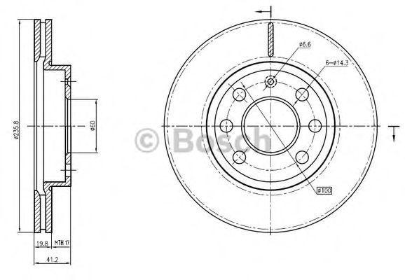 Тормозной диск BOSCH 0986BB4327