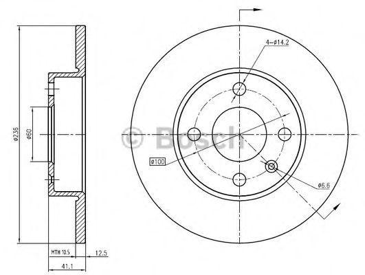 Тормозной диск BOSCH 0986BB4342