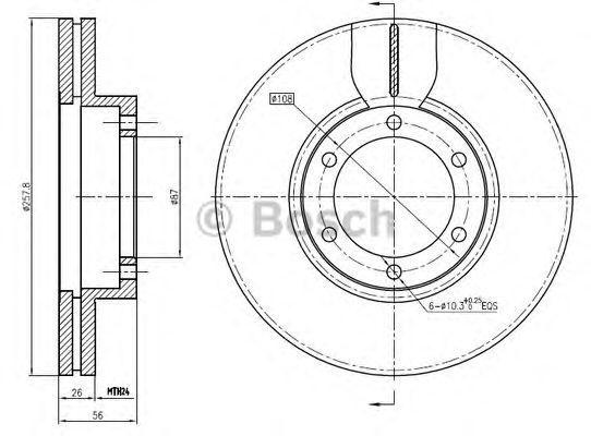 Тормозной диск BOSCH 0986BB4348
