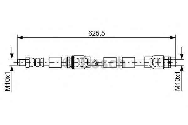 Шланг тормозной BOSCH 1987481589