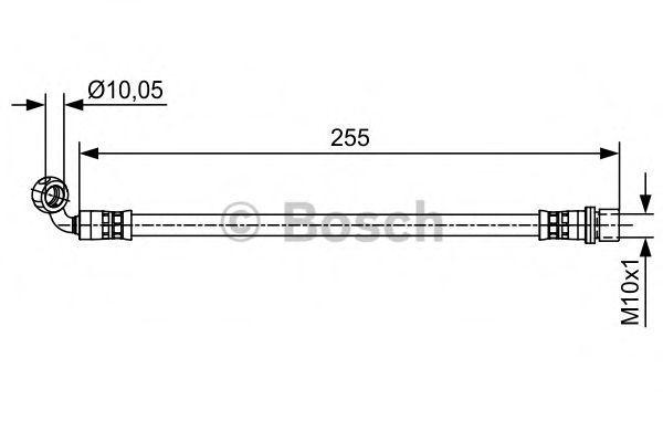 Шланг тормозной BOSCH 1987481647