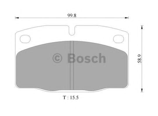 Комплект тормозных колодок, дисковый тормоз BOSCH 0986505242