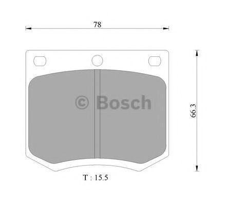 Комплект тормозных колодок, дисковый тормоз BOSCH 0986505284