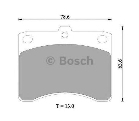 Комплект тормозных колодок, дисковый тормоз BOSCH 0986505358