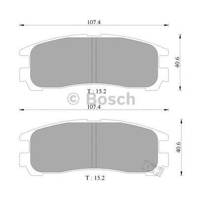 Комплект тормозных колодок, дисковый тормоз BOSCH 0986505397