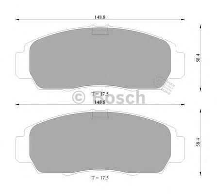 Комплект тормозных колодок, дисковый тормоз BOSCH 0986505404