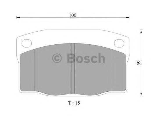 Комплект тормозных колодок, дисковый тормоз BOSCH 0986505628