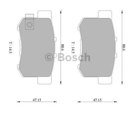 Комплект тормозных колодок, дисковый тормоз BOSCH 0986505694