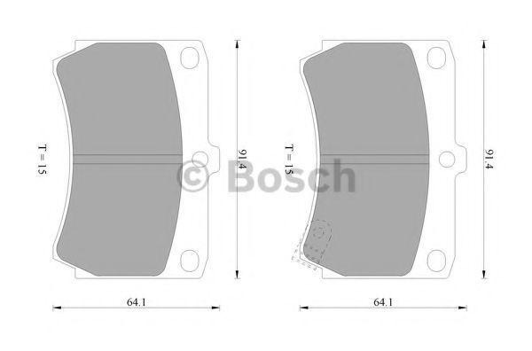 Комплект тормозных колодок, дисковый тормоз BOSCH 0986505705