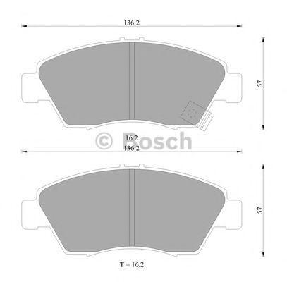Комплект тормозных колодок, дисковый тормоз BOSCH 0986505948