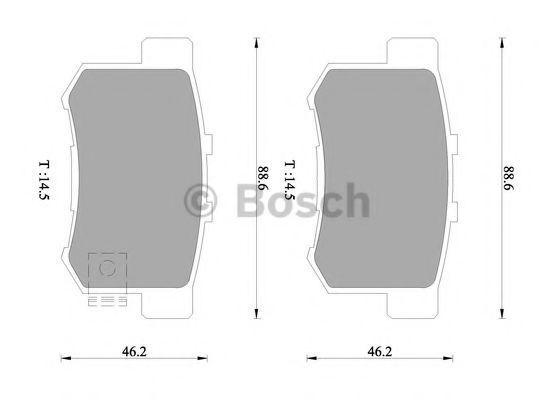 Комплект тормозных колодок, дисковый тормоз BOSCH 0986505957