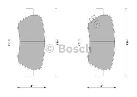 Комплект тормозных колодок, дисковый тормоз BOSCH 0986AB1425