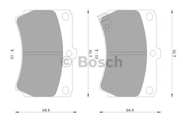 Комплект тормозных колодок, дисковый тормоз BOSCH 0986AB2053