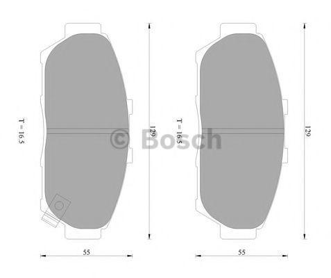 Комплект тормозных колодок, дисковый тормоз BOSCH 0986AB2279
