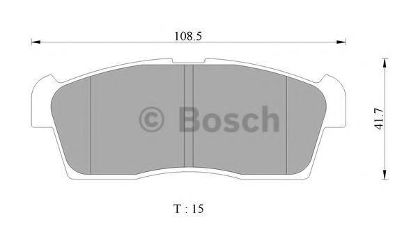 Комплект тормозных колодок, дисковый тормоз BOSCH 0986AB2416
