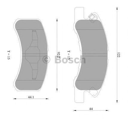Комплект тормозных колодок, дисковый тормоз BOSCH 0986AB2421