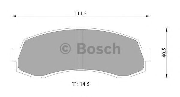 Комплект тормозных колодок, дисковый тормоз BOSCH 0986AB2434