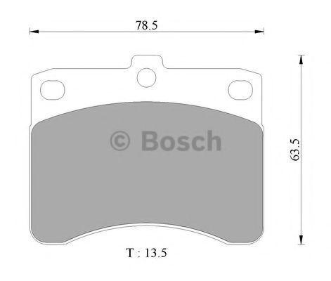 Комплект тормозных колодок, дисковый тормоз BOSCH 0986AB2435
