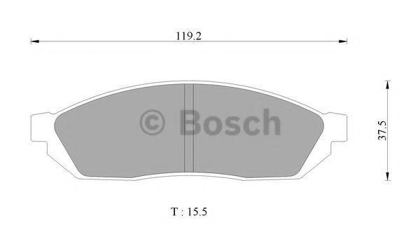Комплект тормозных колодок, дисковый тормоз BOSCH 0986AB3038