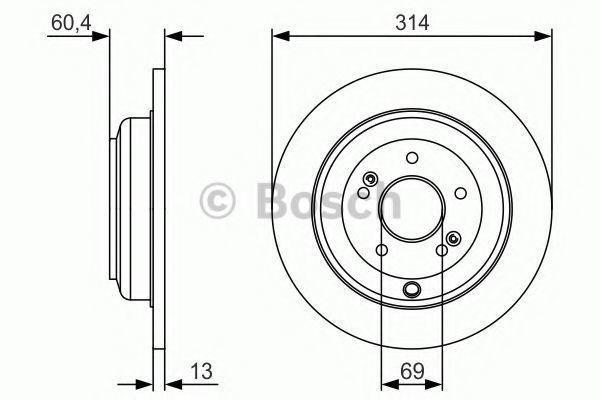Тормозной диск BOSCH 0986479V15