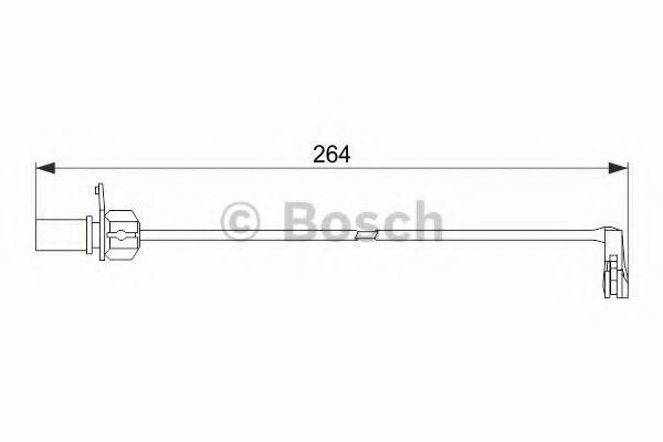 Датчик износа тормозных колодок BOSCH 1987474517