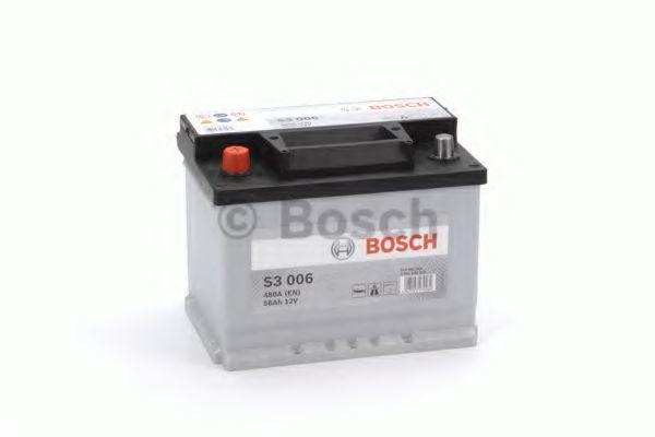 Аккумулятор S3 56Ач 480A BOSCH 0 092 S30 060