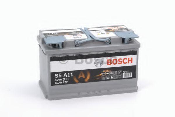 Аккумулятор гелевый AGM S5 80Ач 800А BOSCH 0 092 S5A 110