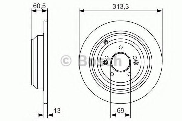 Тормозной диск BOSCH 0986479C27