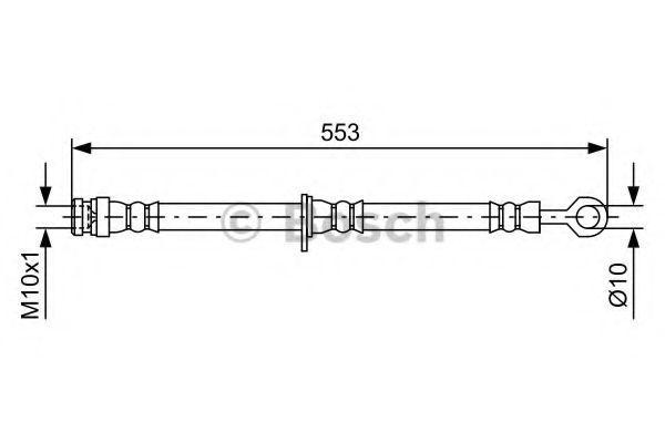 Тормозной шланг BOSCH 1987481728