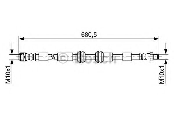 Шланг тормозной BOSCH 1987481734