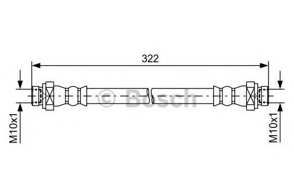 Тормозной шланг BOSCH 1987481735