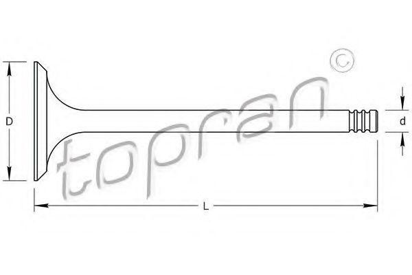 Клапан двигателя впускной HANS PRIES/TOPRAN 205 156