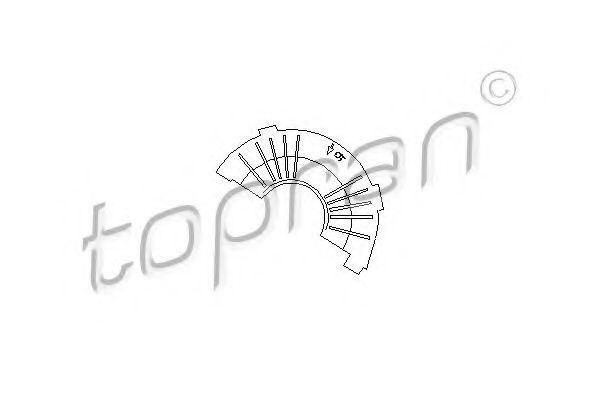 Защита ремня верхняя часть HANS PRIES/TOPRAN 109 109