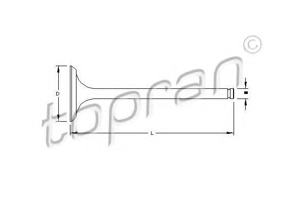 Клапан двигателя впускной HANS PRIES/TOPRAN 721551