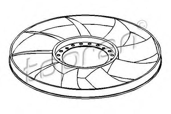 Вентилятор радиатора HANS PRIES/TOPRAN 110295