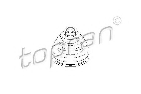 Пыльник ШРУС HANS PRIES/TOPRAN 104 059