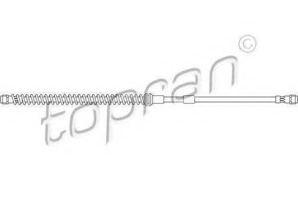 Шланг тормозной передний HANS PRIES/TOPRAN 111057