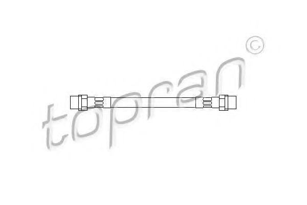 Шланг тормозной задний HANS PRIES/TOPRAN 102636