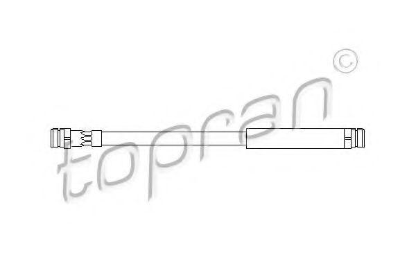 Шланг тормозной задний М10х1х240 HANS PRIES/TOPRAN 110 396