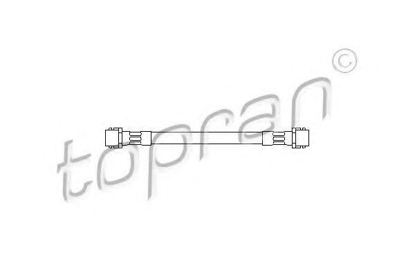 Шланг тормозной задний М10x1x162 HANS PRIES/TOPRAN 108 127
