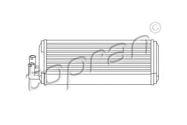 Радиатор отопителя салона HANS PRIES/TOPRAN 103 705