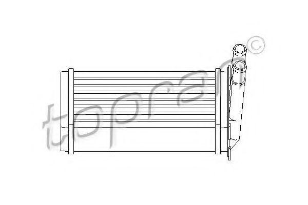 Радиатор отопителя салона HANS PRIES/TOPRAN 107407