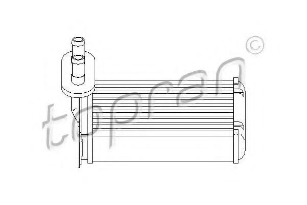 Радиатор отопителя салона HANS PRIES/TOPRAN 103147